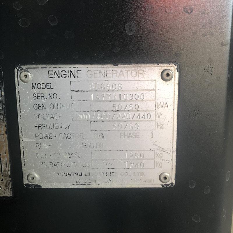 Máy phát điện SDG 60 kva